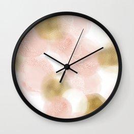 Rose Gold and Gold Blush Wall Clock