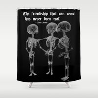 friendship Shower Curtains featuring Friendship by GLR67
