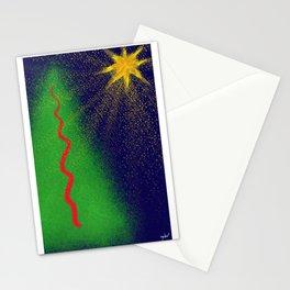 Abstract Xmas Stationery Cards