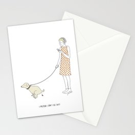 I pretend I don't see shit Stationery Cards