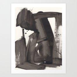 Mono Brush Art Print