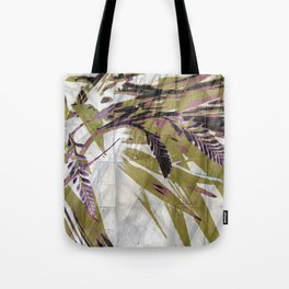 Crocosmia Shimmer in Ivory Gold Pink Tote Bag