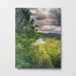 River Storm Clouds Metal Print
