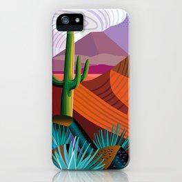 Thunderhead Builds in Arizona Desert iPhone Case