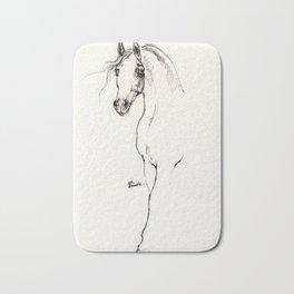 Arabian horse ink art Bath Mat