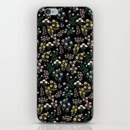 Spring Bloom Black iPhone Skin