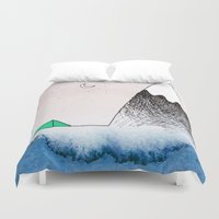 camping Duvet Covers featuring Pretty Camping by Lauren Strom