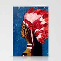 native american Stationery Cards featuring Native American by Ksuhappy