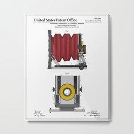 Camera Patent 1902 Metal Print