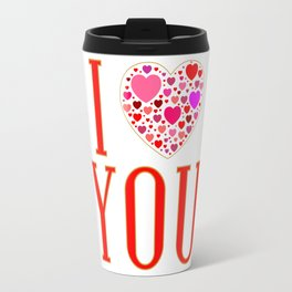 I Love You In Red Travel Mug