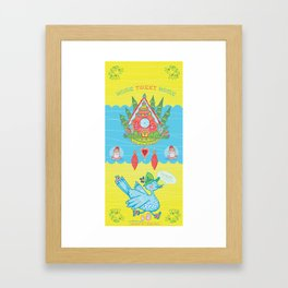 Home Tweet Home Cuckoo Clock Framed Art Print