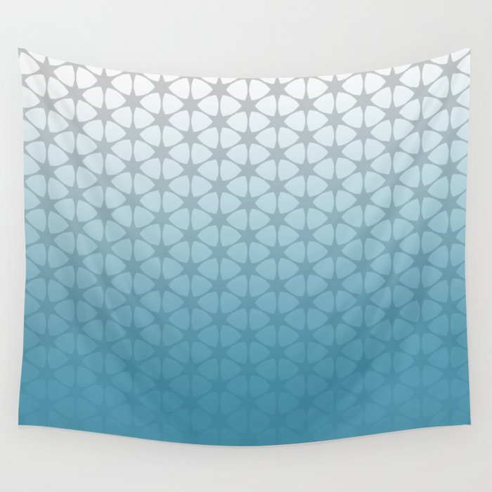 blue and grey pattern wall tapestry by artsimo society6. Black Bedroom Furniture Sets. Home Design Ideas