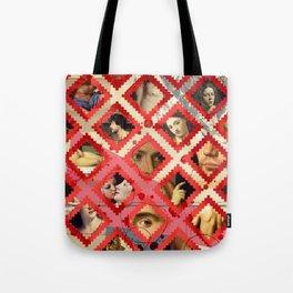 Moroccan pattern meets an erotic renaissance Tote Bag