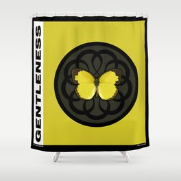 Fruit of the Spirit, Gentleness (Yellow Carbon) Shower Curtain