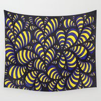 bugs Wall Tapestries featuring Cal Bugs by Sarah J Bierman