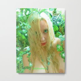 Nude sexy blond wet fairy wood nymph lady kashmir  Metal Print