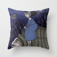 Kingfisher's Invitation to Tea (2) Throw Pillow