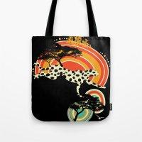 cheetah Tote Bags featuring Cheetah by Dimitra Tzanos