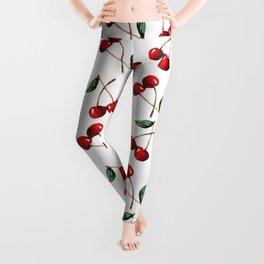Cherry Red Leggings