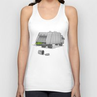 sesame street Tank Tops featuring Accident on Sesame St.  by Skylar Hogan