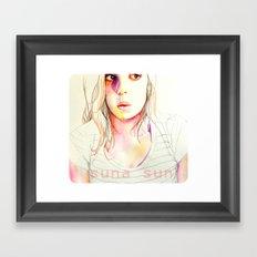 Sara Sarita watercolor acuarela  Framed Art Print
