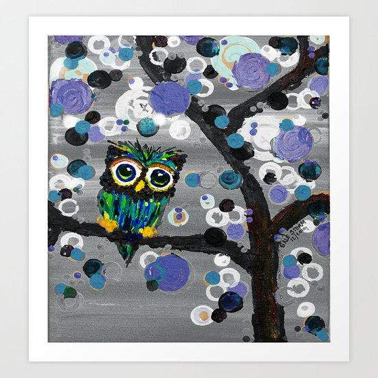 ::Gemmy Owl Weather's the Storm:: Art Print
