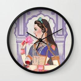Indian Royalties (Rani & Lotus) Wall Clock