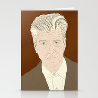 david lynch Stationery Cards featuring LYNCH by Itxaso Beistegui Illustrations