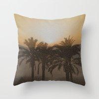 arabic Throw Pillows featuring Arabic by Louise Machado