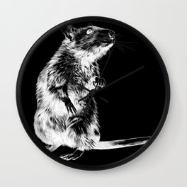 Rat | Spirit animal | Year of the rat | Wicca | Rat lovers | Rat Club Wall Clock