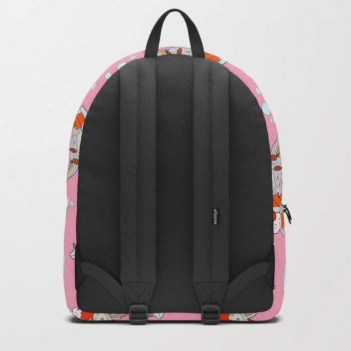 Lion Head Goldfish Pink Backpack