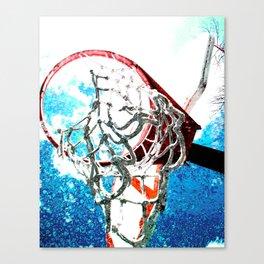 basketball art swoosh vs 7 Canvas Print