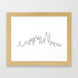 New York City Skyline Silhouette Framed Art Print