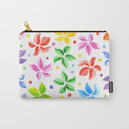 Floral Leaves Carry-All Pouch