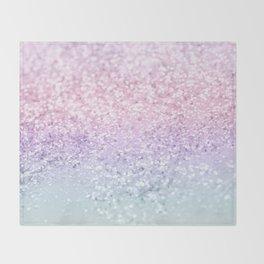 Unicorn Girls Glitter #1 (2019 Version) #shiny #pastel #decor #art #society6 Throw Blanket