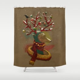 January-New year Shower Curtain