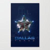 dallas Canvas Prints featuring Dallas by AdrianFlores