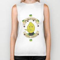 lemongrab Biker Tanks featuring LEMON GRAB LEMONS by Alyssa Leary