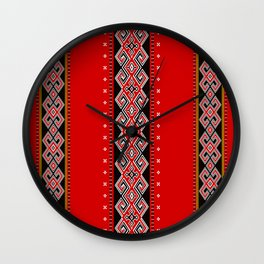 TANA TORAJA FABRIC MOTIF Wall Clock