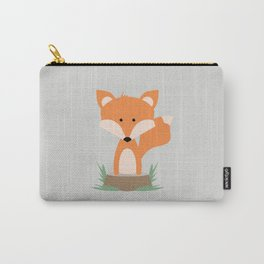Fox on Stump Carry-All Pouch
