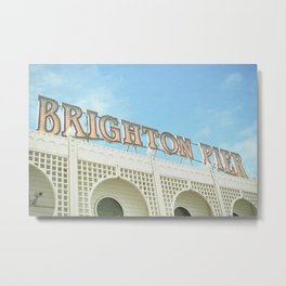 Brighton Lights Metal Print
