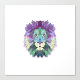 POLYGON LION HEAD Canvas Print