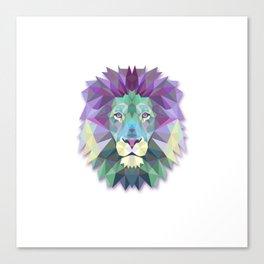 POLYGON LION HEAD Canvas Print