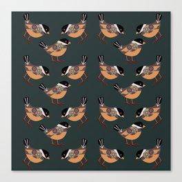 Forest Bird Pattern  Canvas Print