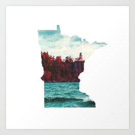 Minnesota-Split Rock Lighthouse at Lake Superior Art Print