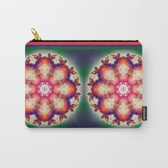 Decorative mandala abstract with translucent colors Carry-All Pouch