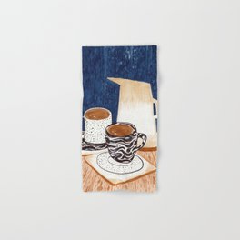 Coffee for Two Drawing by Amanda Laurel Atkins Hand & Bath Towel