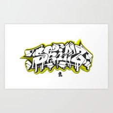 3D GRAFFITI - SKILLZ Art Print