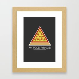 All you need is pizza Framed Art Print