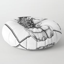 Blossom Surgery : Backbone. Floor Pillow